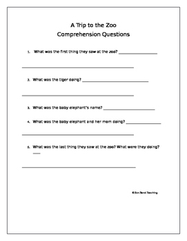 Fluency and Comprehension Questions