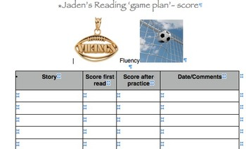 Fluency and Comprehension Tracking Forms