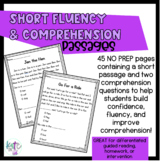 Short Fluency and Comprehension passages!