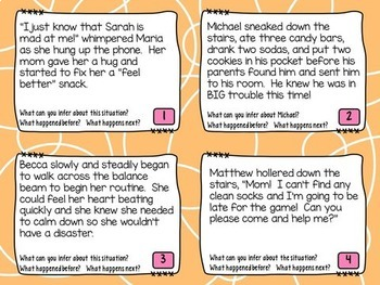 Fluency and Inferring Task Cards Grades 3-5
