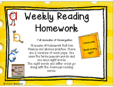 Fluency and Phonics Weekly Homework