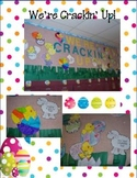 """Fluency and Reading Spring / Easter Bulletin Board - """"Crackin' Me Up!"""" -"""
