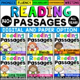 Phonics Reading Comprehension Passages & Questions: (All Y