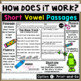 Short Vowel Reading Passages - Fluency and Skill Based Comprehension Notebook
