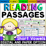 Short Vowel Reading Passages LEVEL 2 - Distance Learning