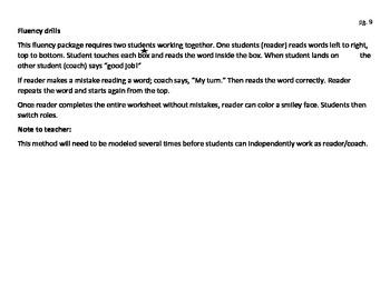 Fluency drill- Short A