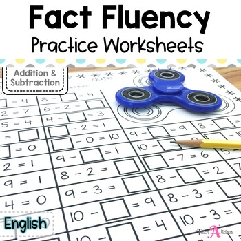 Fluency facts with Fidget spinners