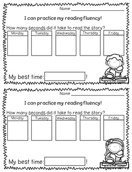 Fluency for February {Passages and Data Collection}
