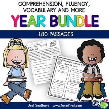 Fluency for the Year {180 Fluency Passages and Activities to Last All Year}