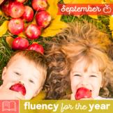 Fluency for the Year - September Packet
