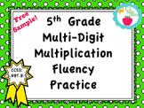 Multi-Digit Multiplication Fluency in 5th