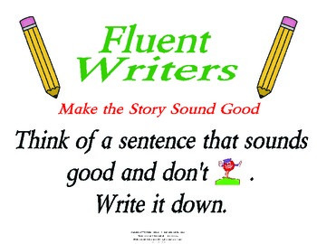 Fluency in Writing Poster