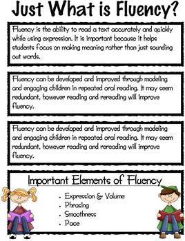 Fluency Folders in a Flash - Get Families Involved with Fluency