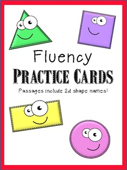 Fluency practice cards - includes sight words and 2d shapes!