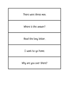 Fluency practice- single sentence phrases
