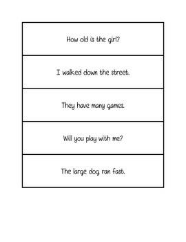 Fluency practice- single sentence phrases