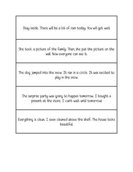 Fluency practice - three sentence phrases