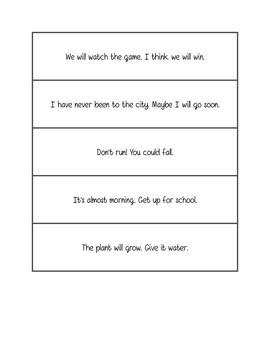 Fluency practice - two sentence phrases