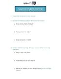 Stuttering (Fluency) Interview Activity for Generalization