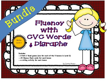 Fluency with CVC Words and Digraphs: Level 2 BUNDLE