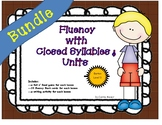 Fluency with Closed and Unit Syllables:Level 3 BUNDLE: Roll'n Read Game & Cards