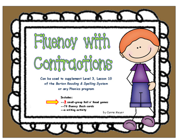 Fluency with Contractions: Level 3 Lesson 10