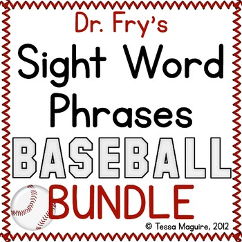 Fluency with Fry Sight Word Phrase Baseball- BUNDLE