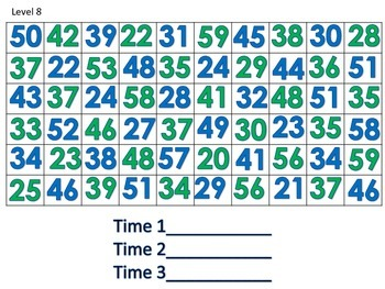 Fluency with Letters and Numbers for Small Group, Assessment, or Pair Practice