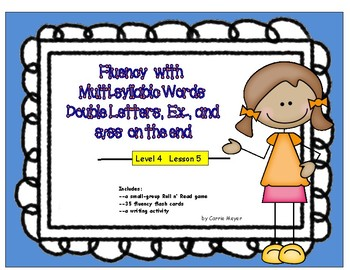 Fluency with Multi-Syllabic Words: Double Letters, Ex, & S/SS:Level 4 Lesson 5