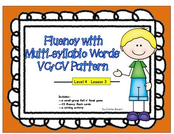 Fluency with Multi-Syllabic Words--VC/CV Pattern Level 4 Lesson 3