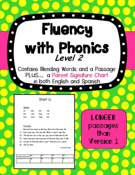 Fluency with Phonics Level 2 - Decodable Fluency Passages
