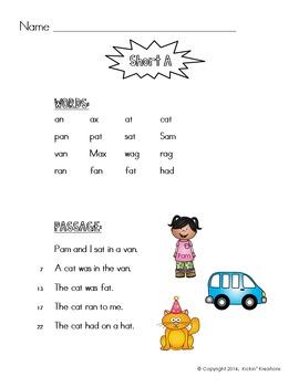 FREEBIE - Fluency with Phonics - Short Vowels
