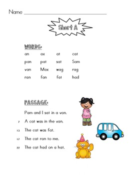 Fluency with Phonics Level 1 - Decodable Fluency Passages
