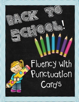 Fluency with Punctuation Task Cards ~ Expression and Fluency
