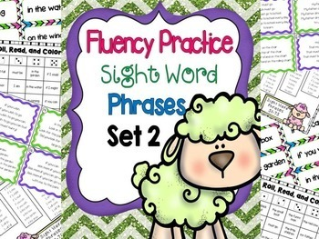Reading Fluency Practice Activities Sight Word Phrases: SETS 1-3