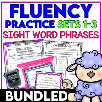 Fluency Practice Activities Sight Word Phrases  SETS 1-3