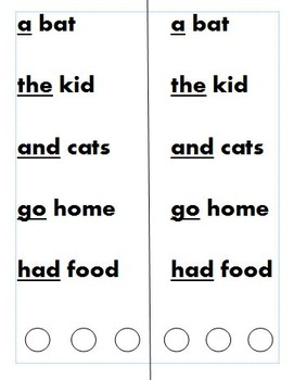 Fluency with Sight Words