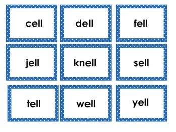 Word Families for /e/