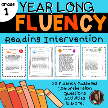 Fluency folder for first grade teaching resources teachers pay fluency comprehension reading intervention for all seasons first grade level fandeluxe Image collections