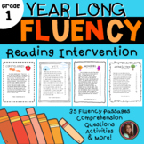 Reading Intervention Fluency Passages & Comprehension - 1st Grade Level