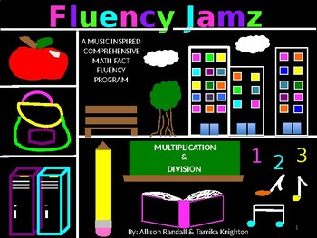 FluencyJamz: Add/Sub Multiplication Division Basic Facts Practice w/Drills Songs