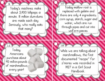 Fluency Task Cards {Candy Facts}