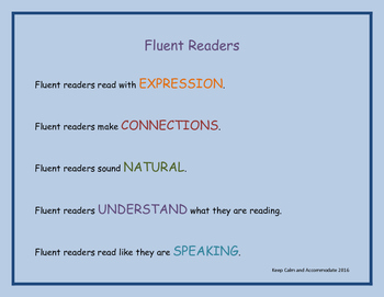 Fluent Readers are... Poster!