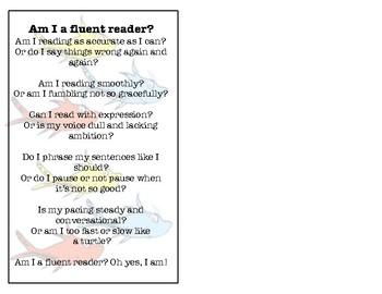 Fluent Reading Bookmark