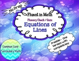 FREE:Equations of Lines Fluency Check Common Core: No Prep Fluent in Math Series