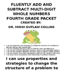 Fluently Add and Subtract Multi-Digit Whole Numbers ~ Fourth Grade Packet
