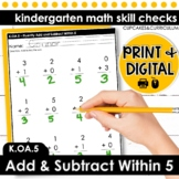 Fluently Add and Subtract Within 5