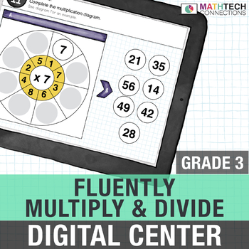 Fluently Multiply and Divide - 3rd Grade Digital Math Center