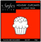 Holiday Cupcakse Clipart {A Hughes Design}