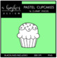 Pastel Cupcakes {Graphics for Commercial Use}